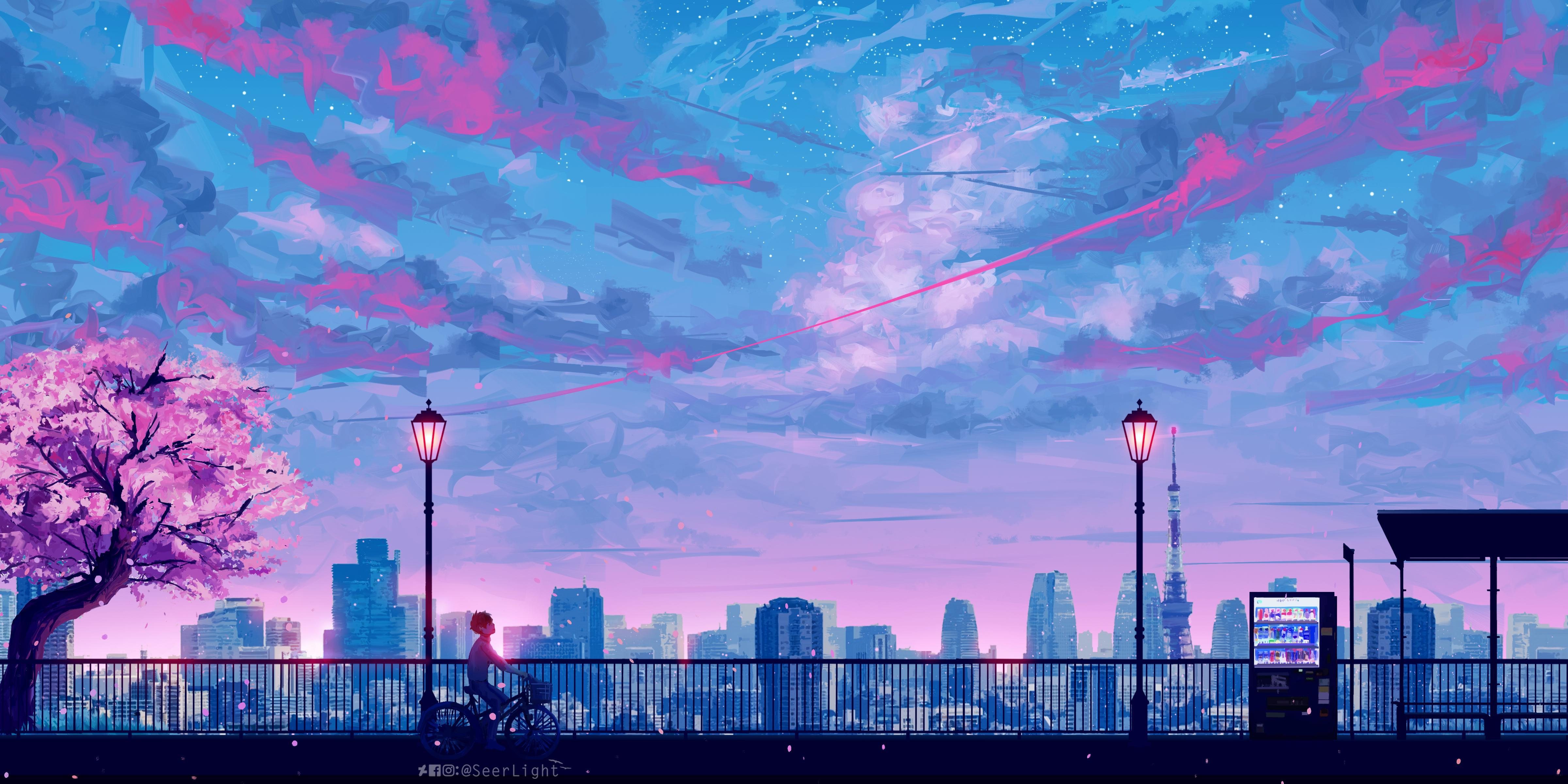 90s Anime Aesthetic Laptop Wallpapers 4800x2400