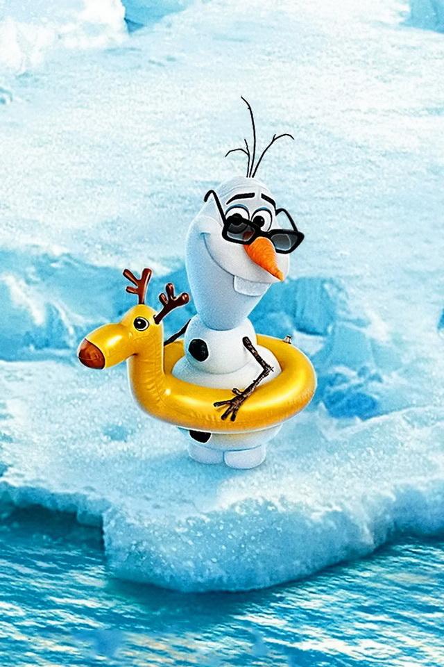 Olaf Frozen Iphone Wallpaper Olaf frozen 640x960