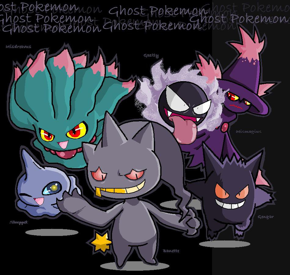 All Ghost Pokemon Ghost 950x901