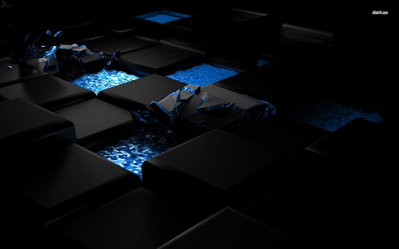 Black cube wallpaper wallpapersafari for Black 3d wallpaper