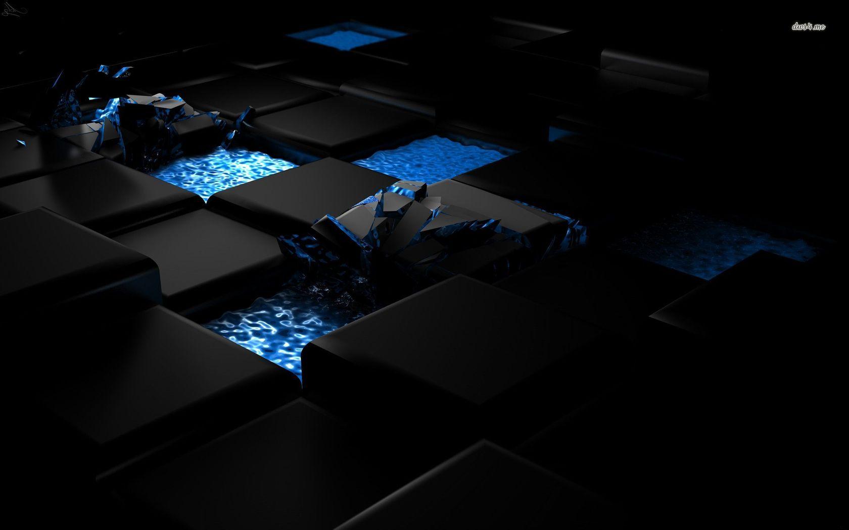 Black cube wallpaper wallpapersafari for Exclusive 3d wallpaper