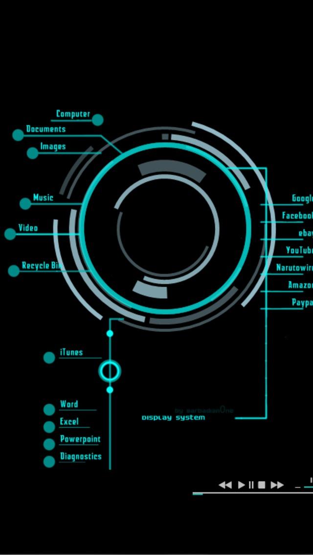 iron man arc reactor iphone 5 wallpaper