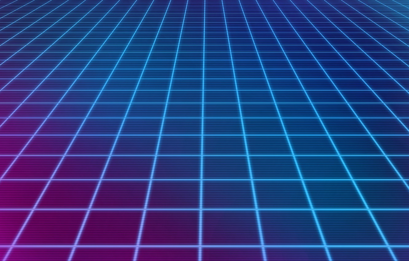 Wallpaper Neon Squares Background Electronic Synthpop Synth 1332x850