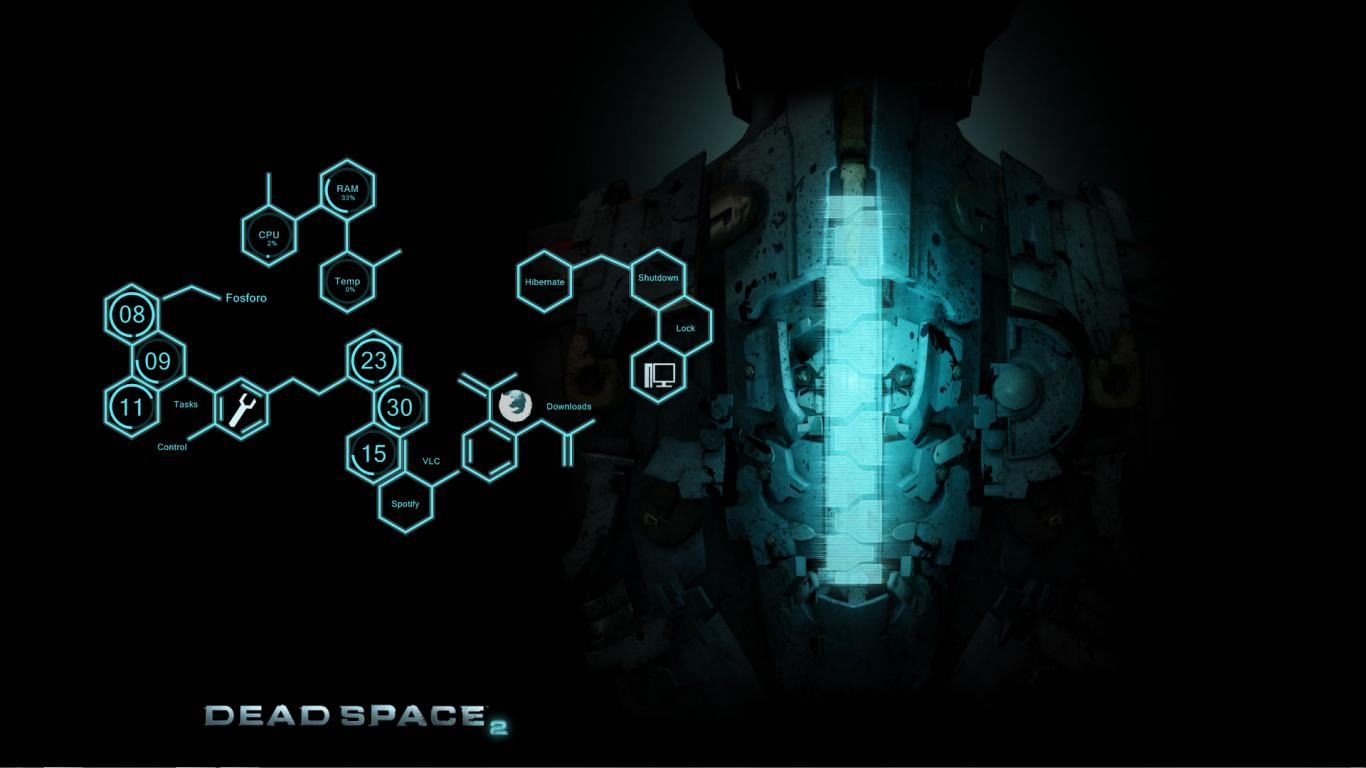 dead space rainmeter best widescreen background awesome HD Wallpaper 1366x768