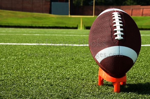 Football Field Background Images Closeup of football on tee on 590x392