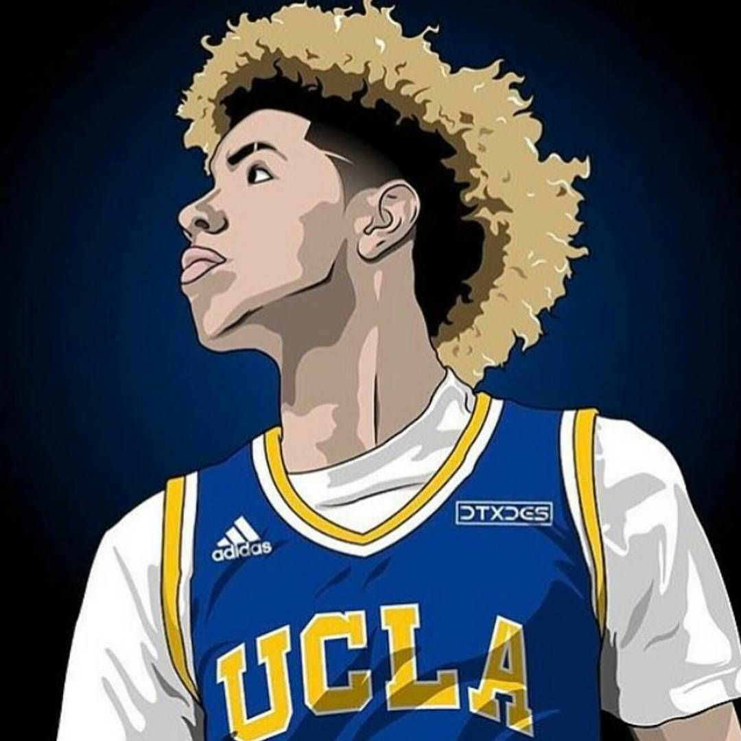 Pin by zjt on sports Basketball art Basketball drawings Ucla 1080x1079