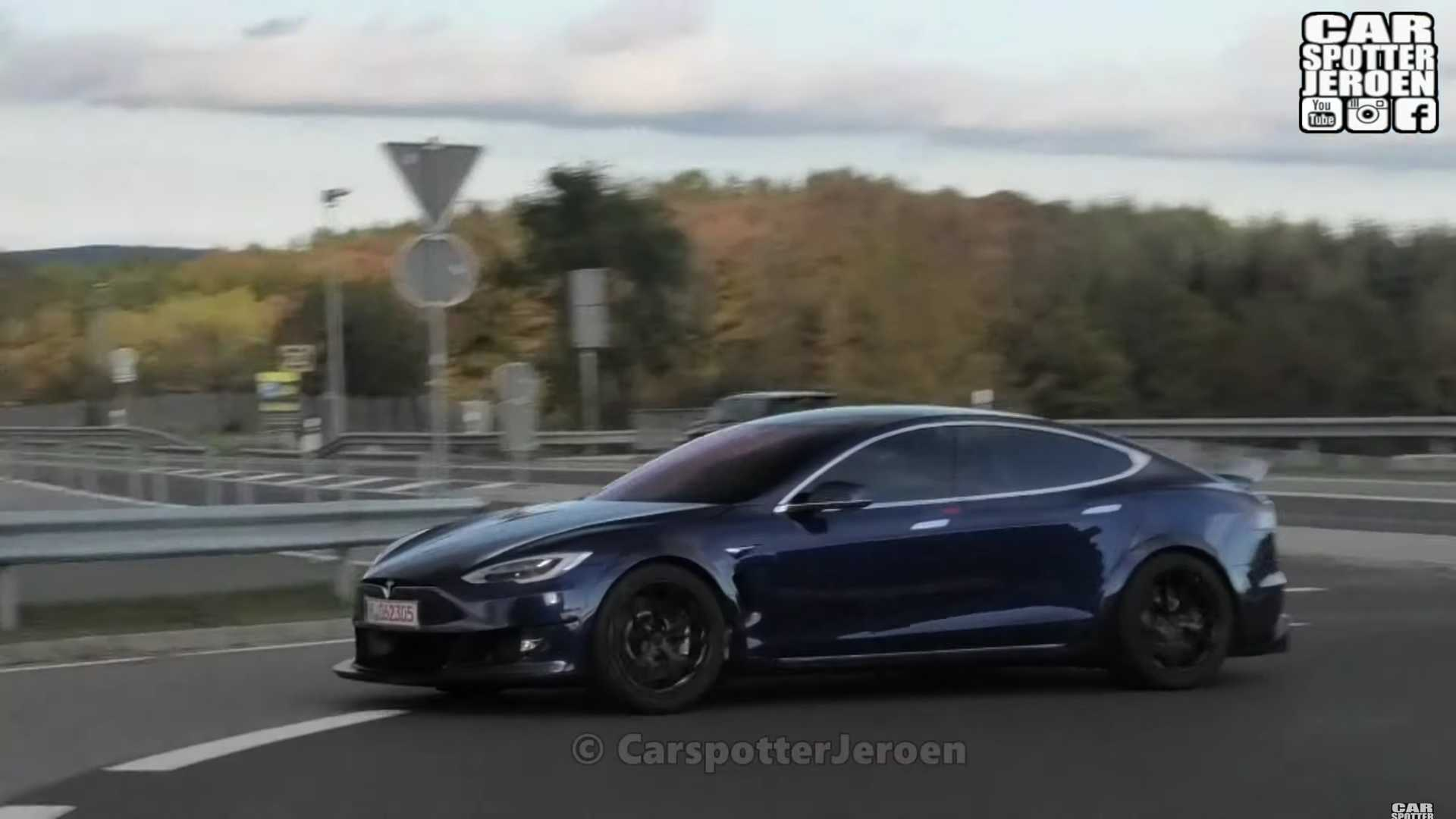 Tesla Model S Plaid Spied Testing Aggressive Body At The Nurburgring 1920x1080
