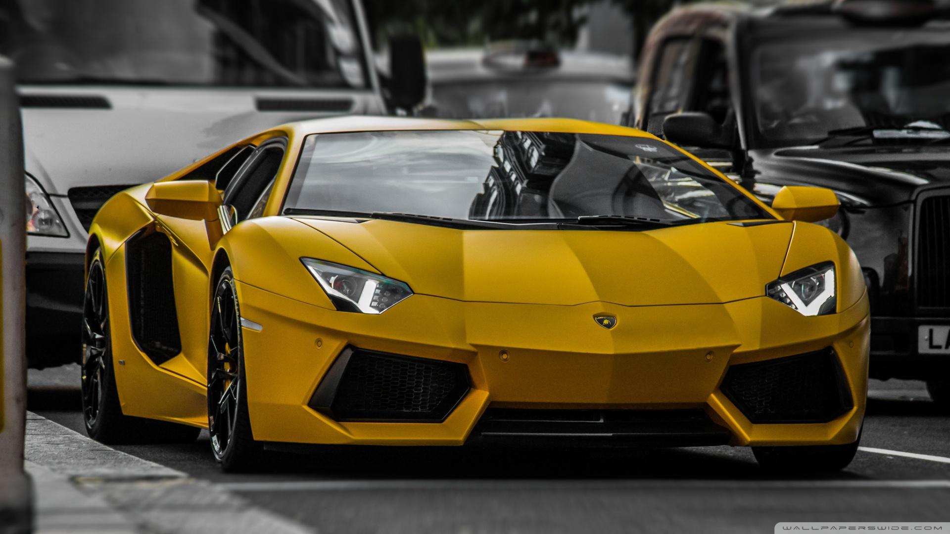 Yellow Lamborghini HDR 4K HD Desktop Wallpaper for 4K Ultra HD 1920x1080