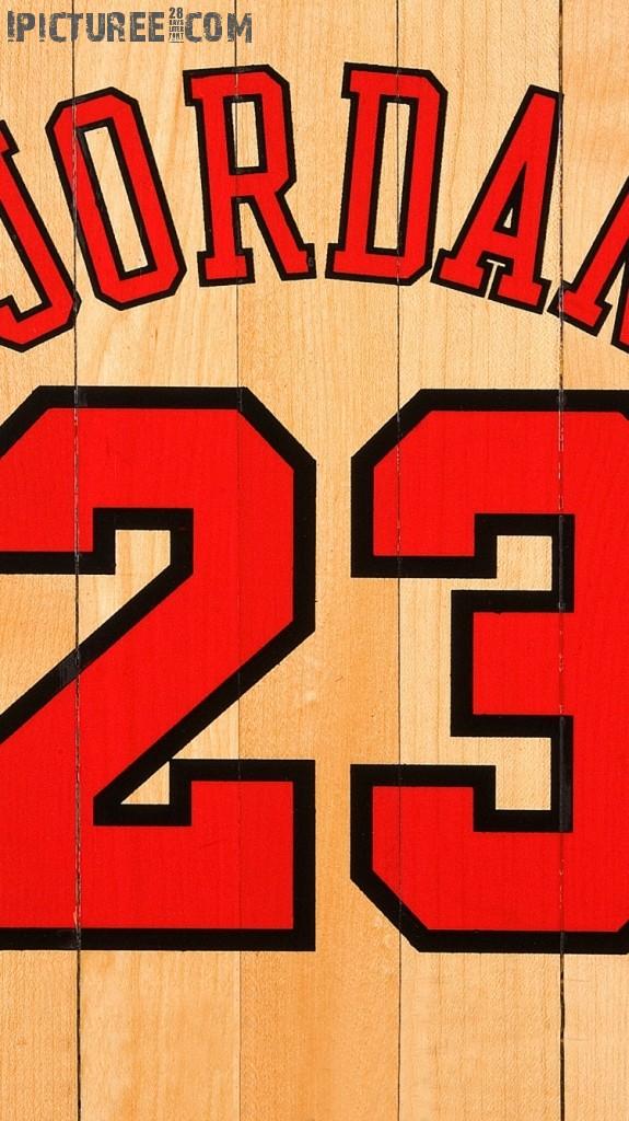 Download Michael Jordan Chicago Bulls Number 23 iPhone 6 HD Wallpaper 575x1024