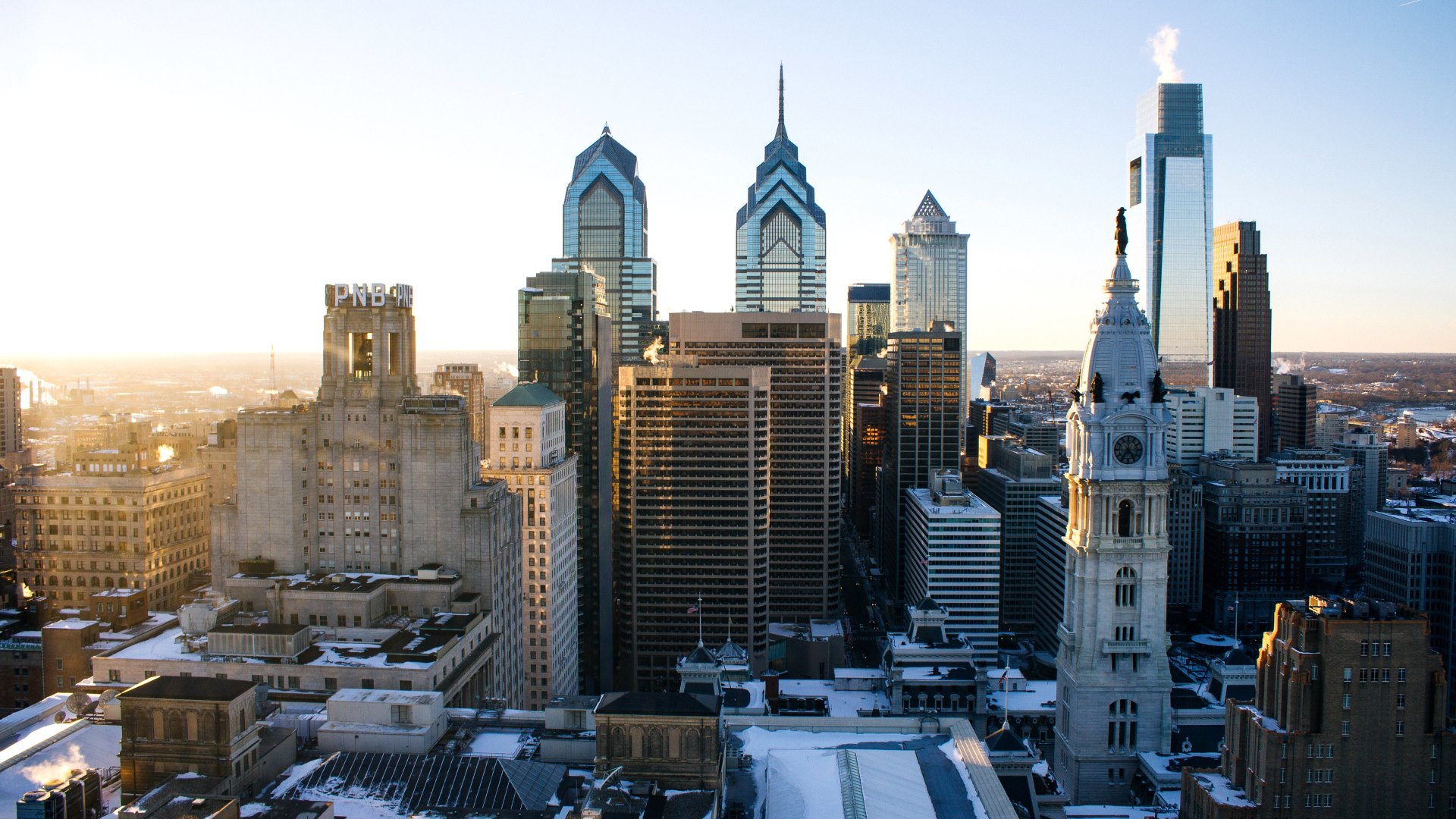 Cityscape Philadelphia Sunset Wallpapers HD Wallpapers 1920x1080