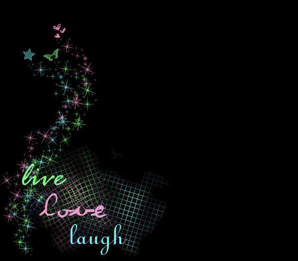 Live Love Laugh Wallpaper