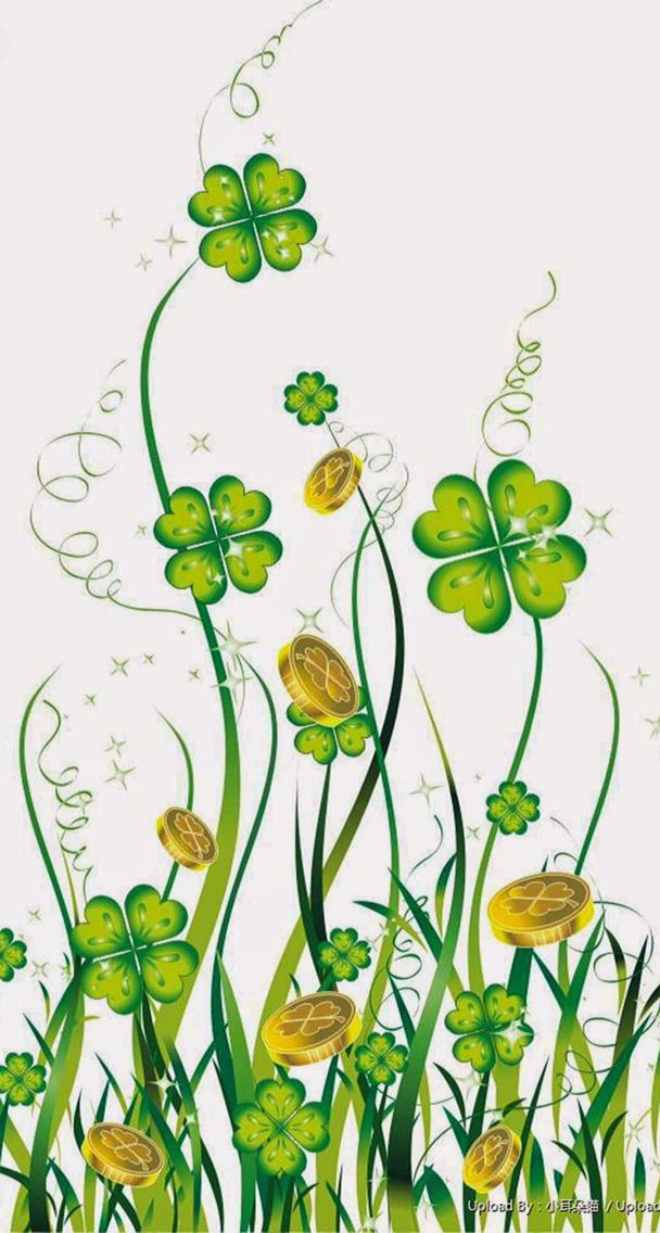 Four leaf clover St patricks day wallpaper Backgrounds phone 608x1136