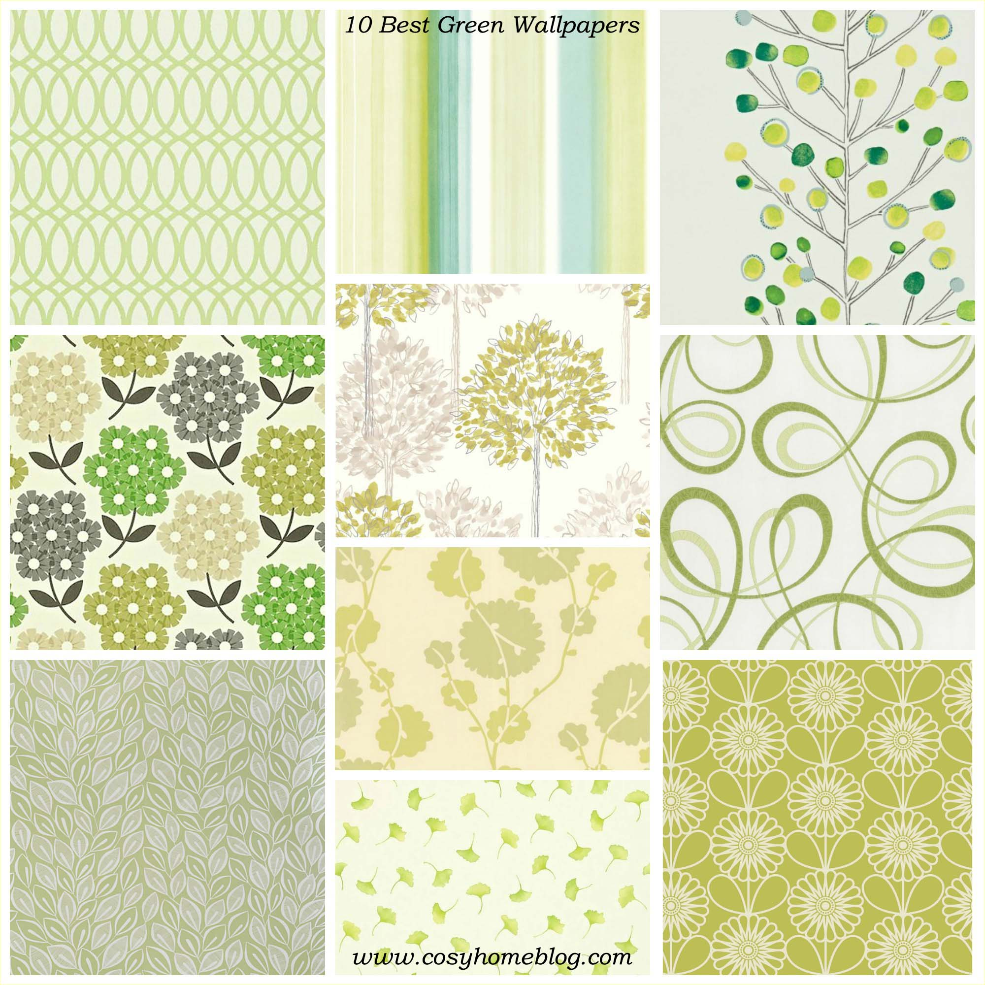 Spring greens 10 green wallpaper decorating ideas Cosy Home Blog 2000x2000