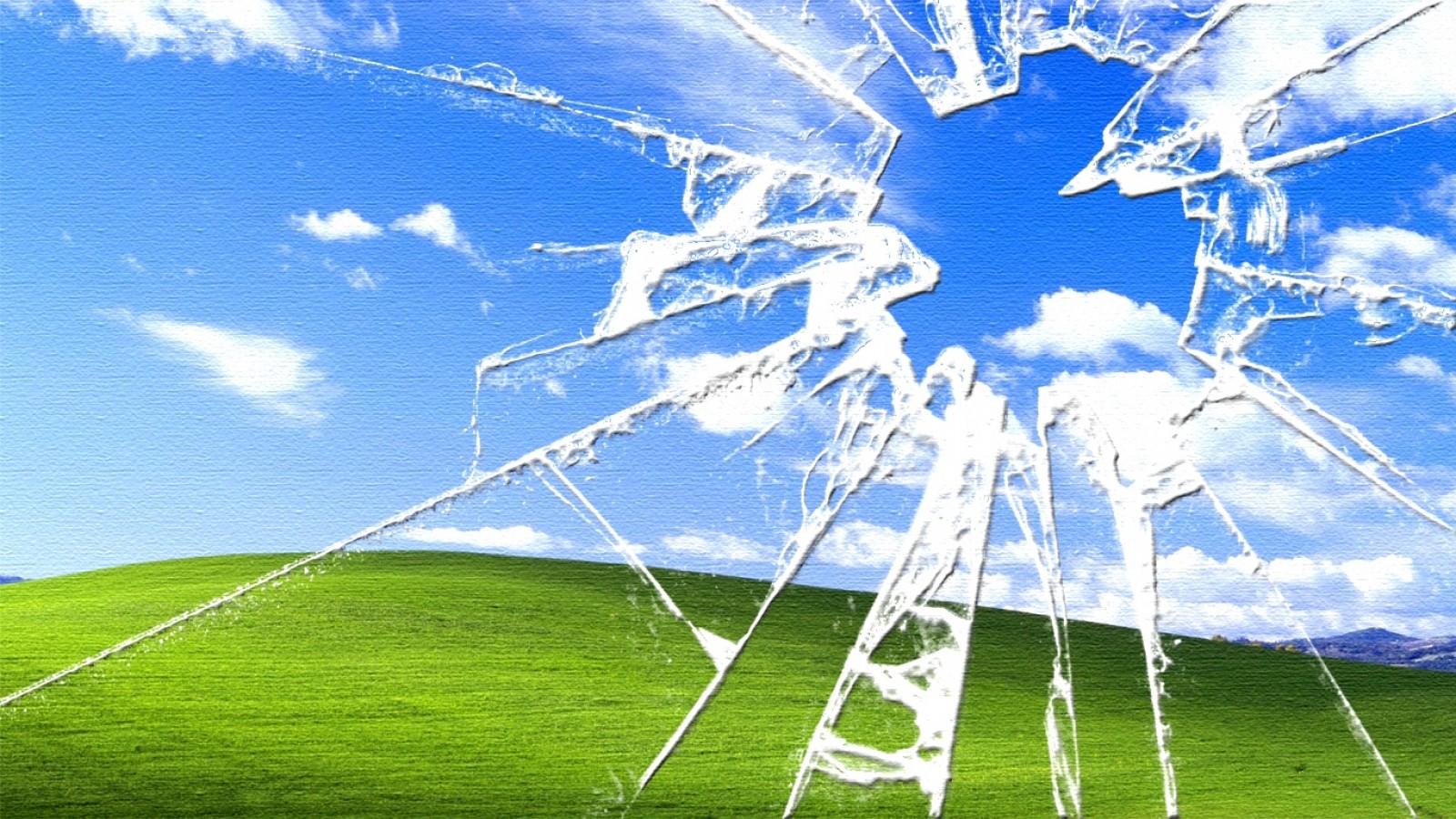 Cracked Screen Wallpaper 1600x900