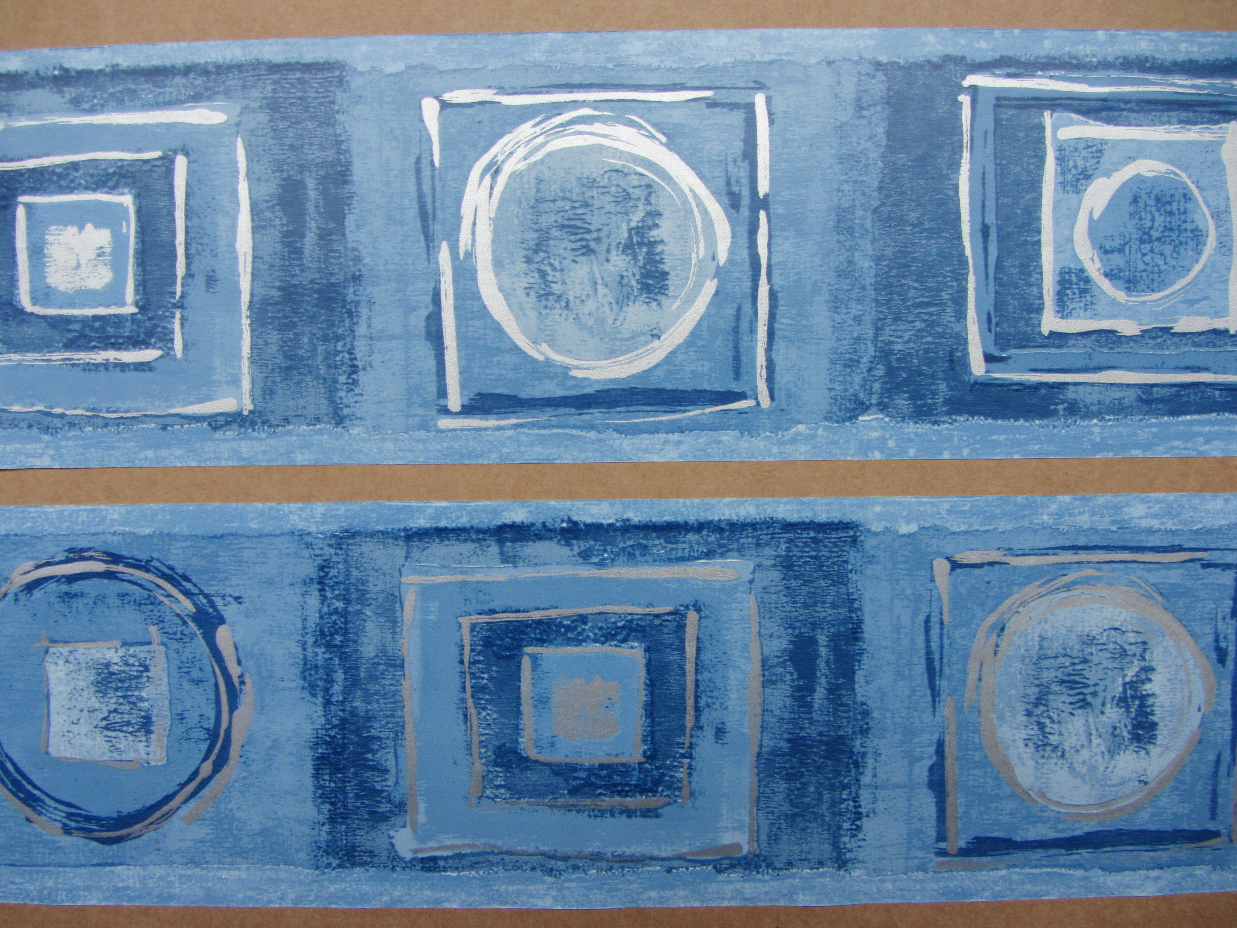 Details about SAHARA DENIH BLUE WALLPAPER BORDER SELF ADHESIVE BEDROOM 4000x3000