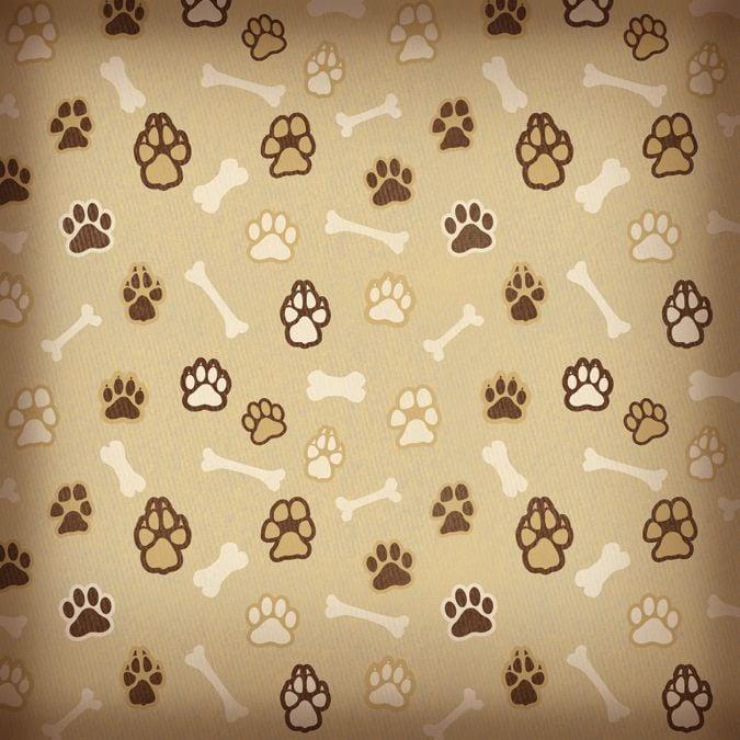 paw print bones wallpaper - photo #16