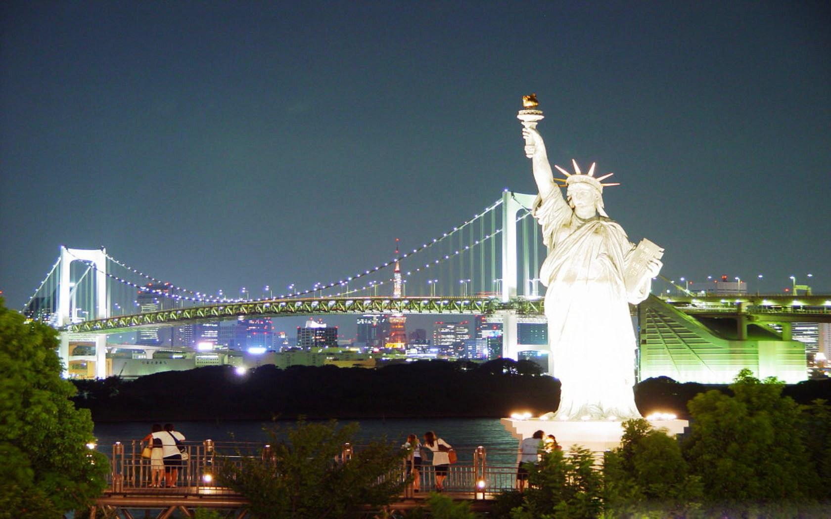 Statue Of Liberty Brooklyn Bridge Wallpaper   Travel HD Wallpapers 1680x1050