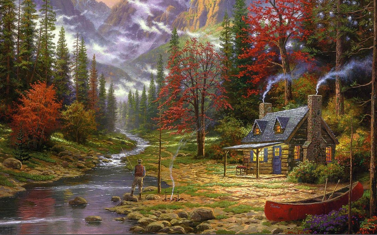 Painting landscape pictures wallpaper 2 Paintings Wallpapers 1280x800