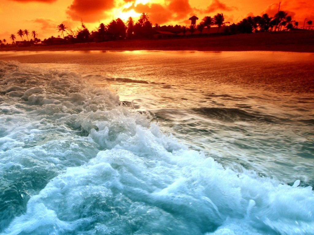 Tropical Beach Sunset Wallpaper Tropical Beach Sunset Wallpaper 1024x768