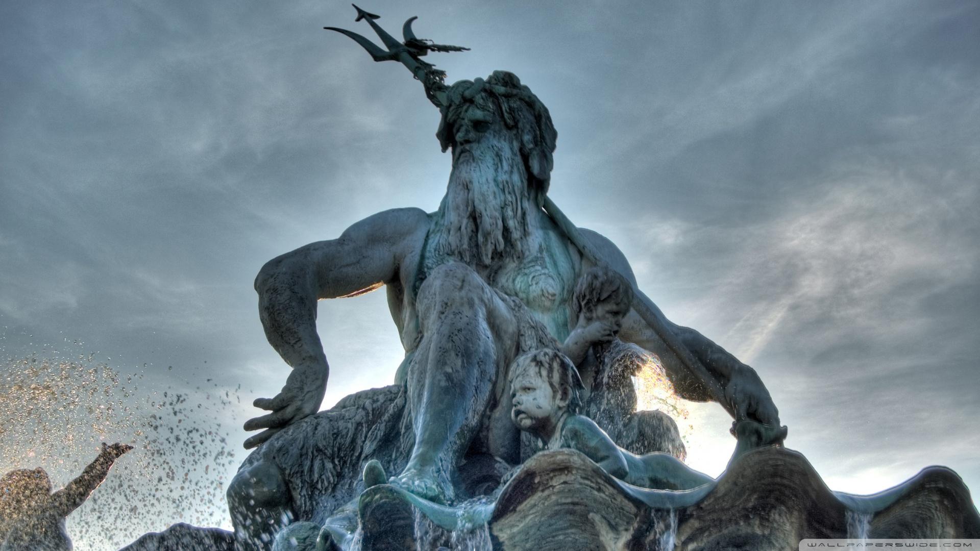 Poseidon Statue Wallpaper Statue of neptune in the vatican museum city 1920x1080