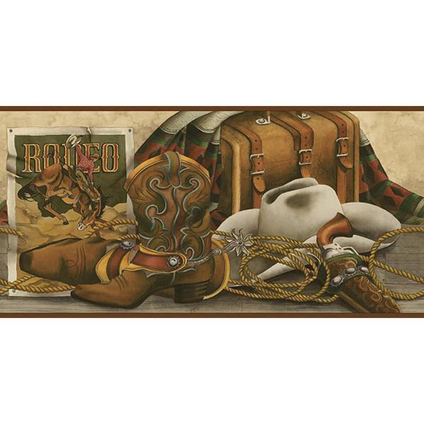Western Still Life Wallpaper Borders BE10491B Buffalo Trader Online 600x600