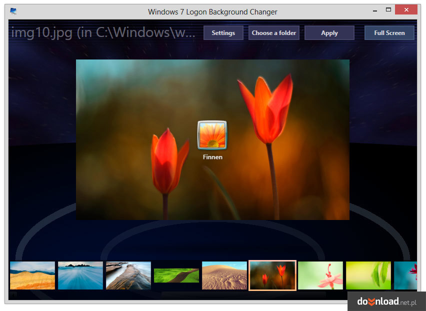 Windows 7 Logon Background Changer 134 System Themes 852x622