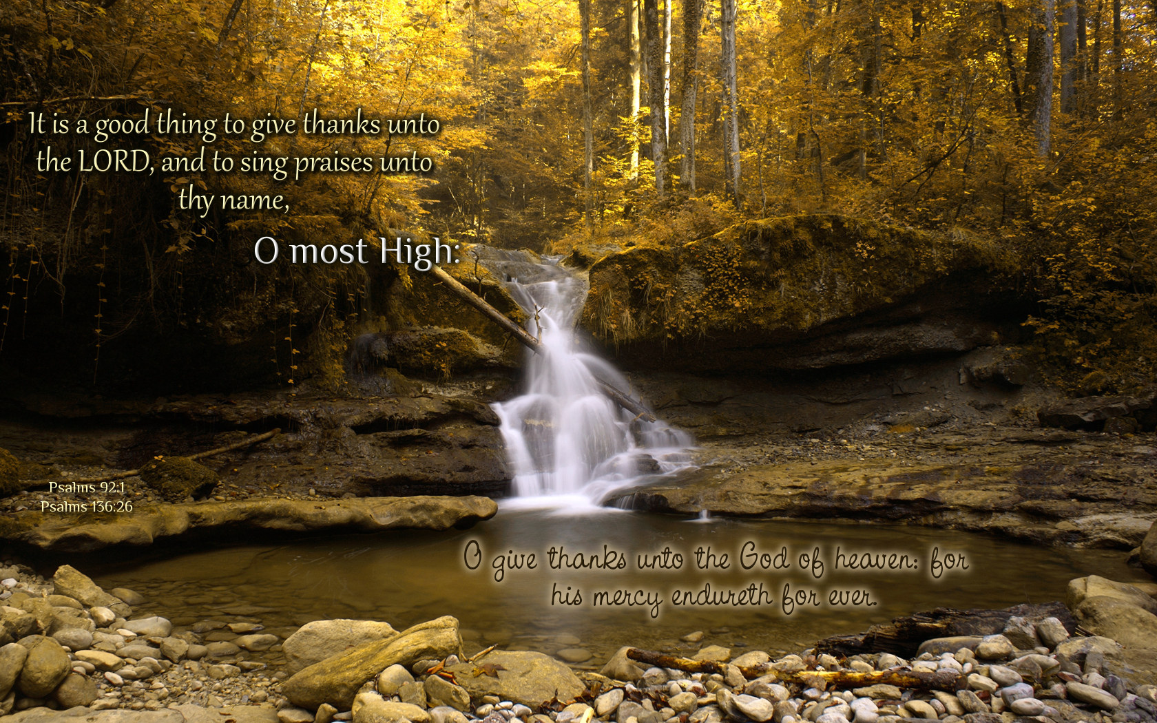 Psalms 921 and 13626 Wallpaper   Christian Wallpapers and 1680x1050