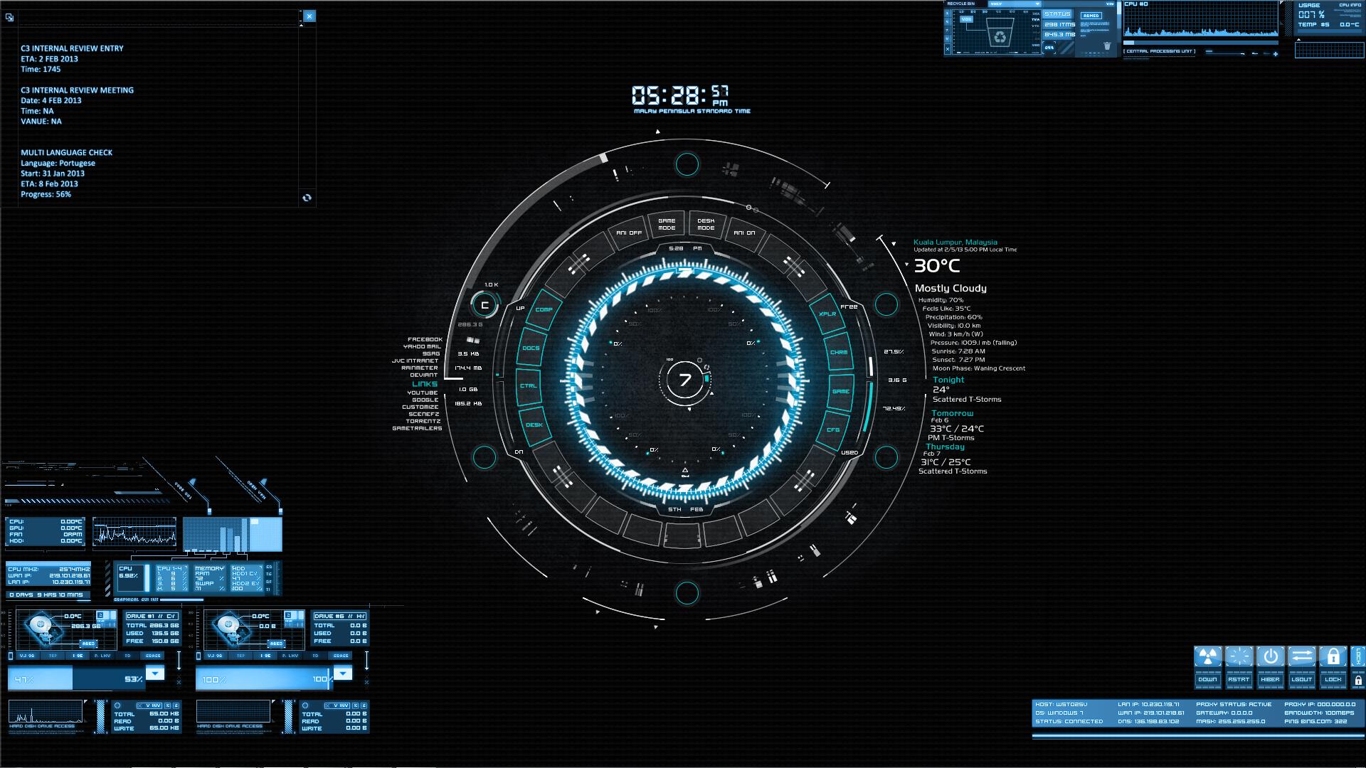 Rate My Desktop   Animated Arc Reactor 1920x1080