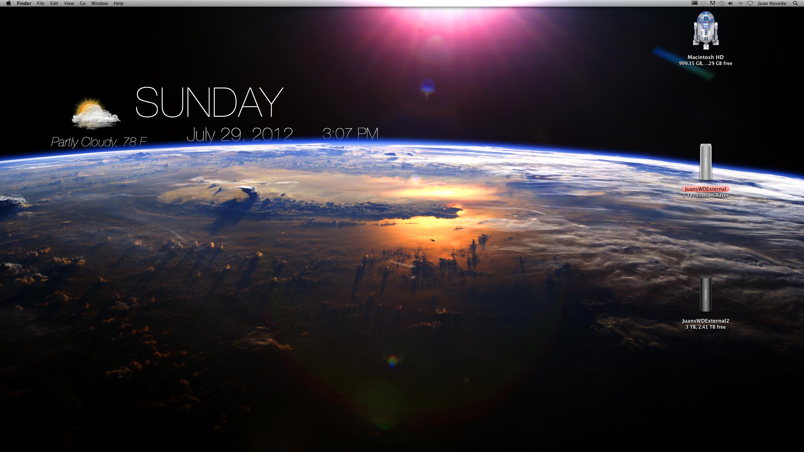 My First GeekTool Modded Desktop Geeklets 2560x1440