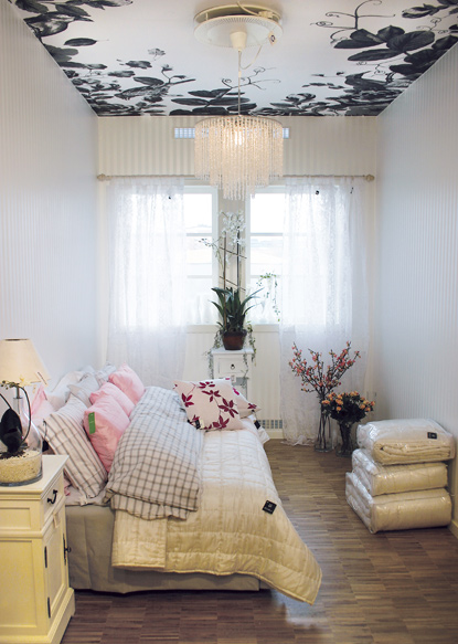 ceiling cover up boring or imperfect ceilings with wallpaper   Home 415x583