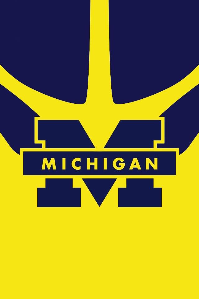 Michigan Michigan Wolverines Wallpaper Michigan Football Wallpaper 640x960