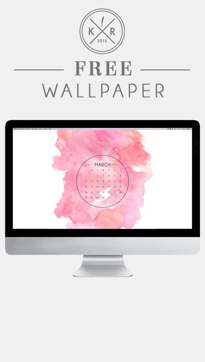 Pink and white watercolor wallpaper desktop for download 660x1162