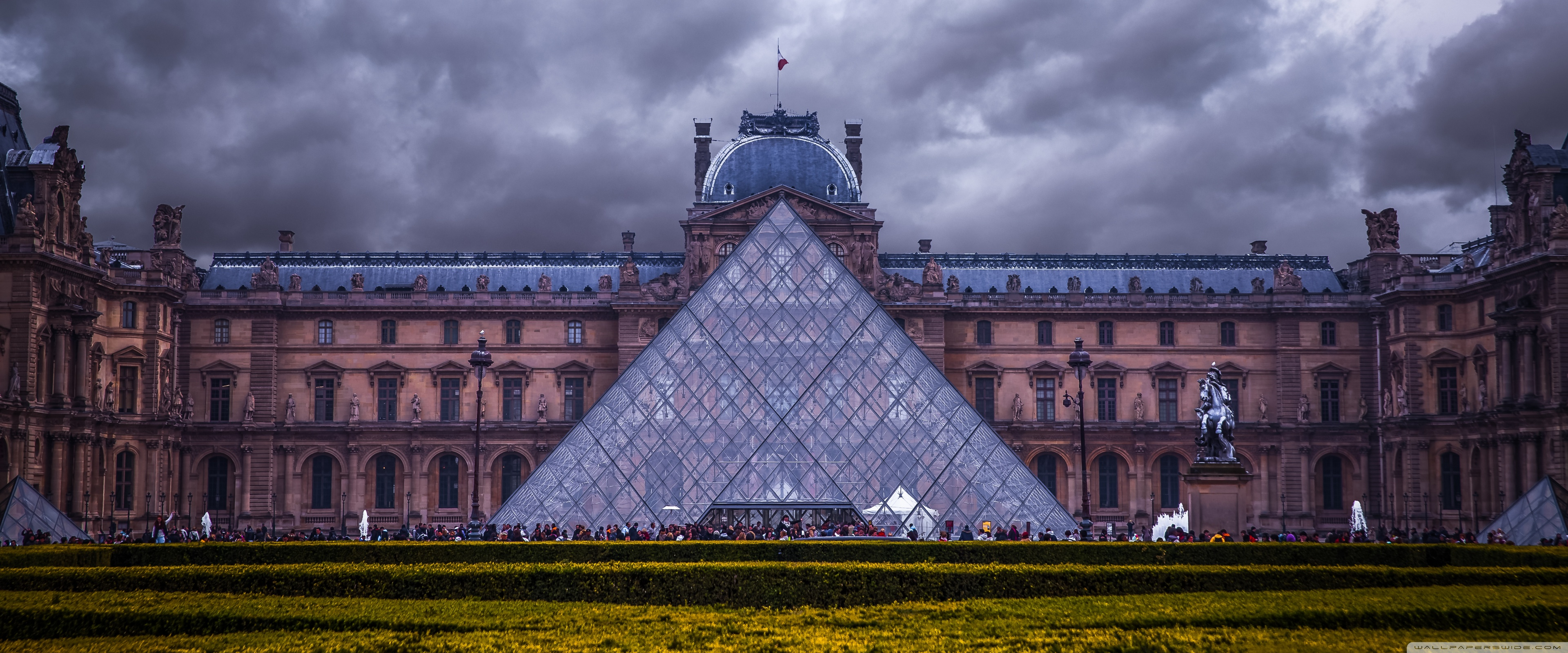 Louvre Museum Paris France 4K HD Desktop Wallpaper for 4K 3840x1600