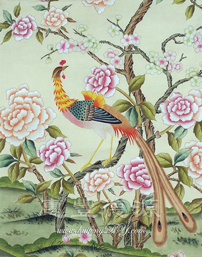 hand painted silk wallpaper China Trading Company   Wallpaper 407x519