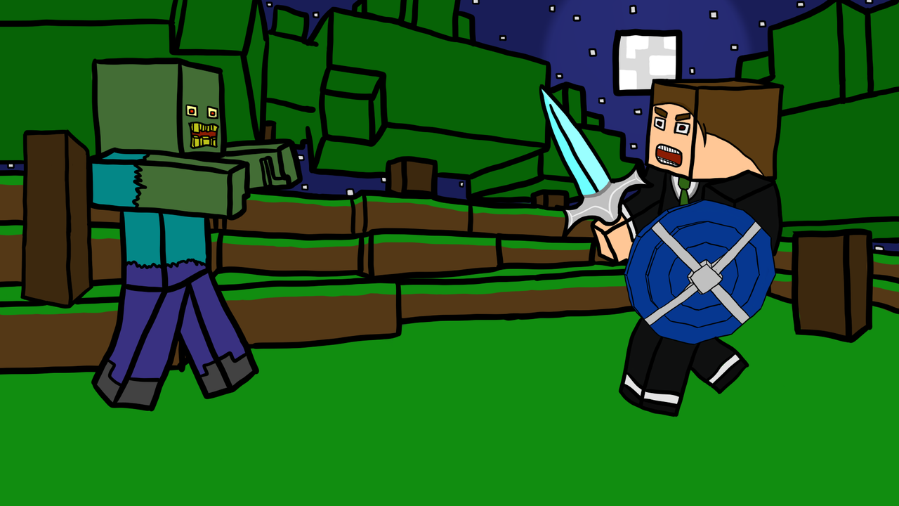 Domseplay [Wallpaper]   Minecraft Skin Draw by ReneLPGermany on 1280x720