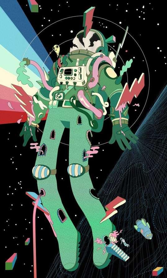 Psychedelic Astronaut Art Steve Scott 538x897