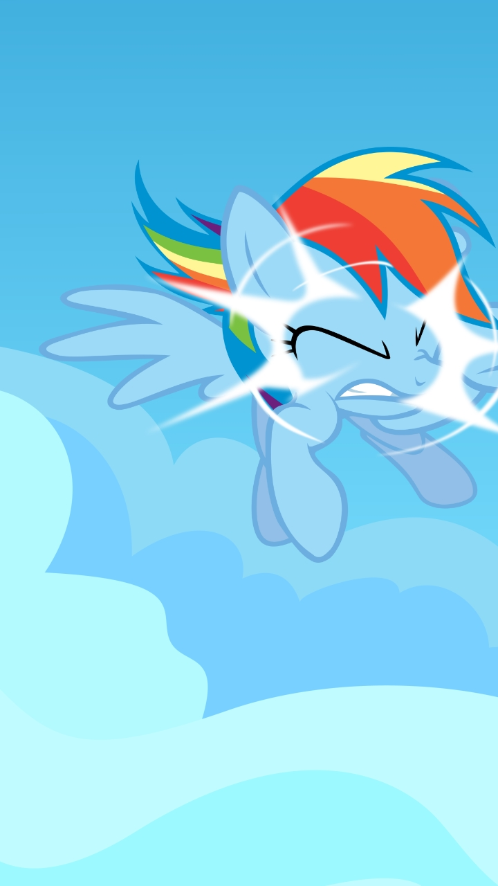 Rainbow Dash Out Of Nowhere Galaxy S III Wallpaper by toyotajzx90 on 720x1280