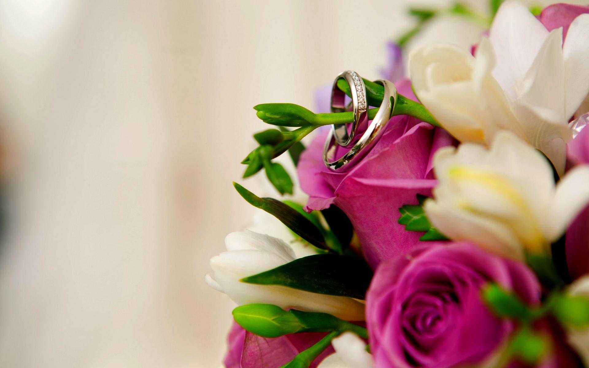 Wedding Rings On Flowers Bouquet Hd Wallpaper Wallpaper List 1920x1200