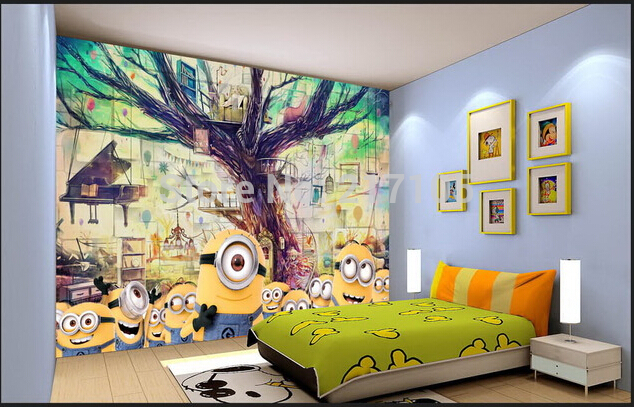 baby wallpaper despicable me little yellow man for children room 634x407