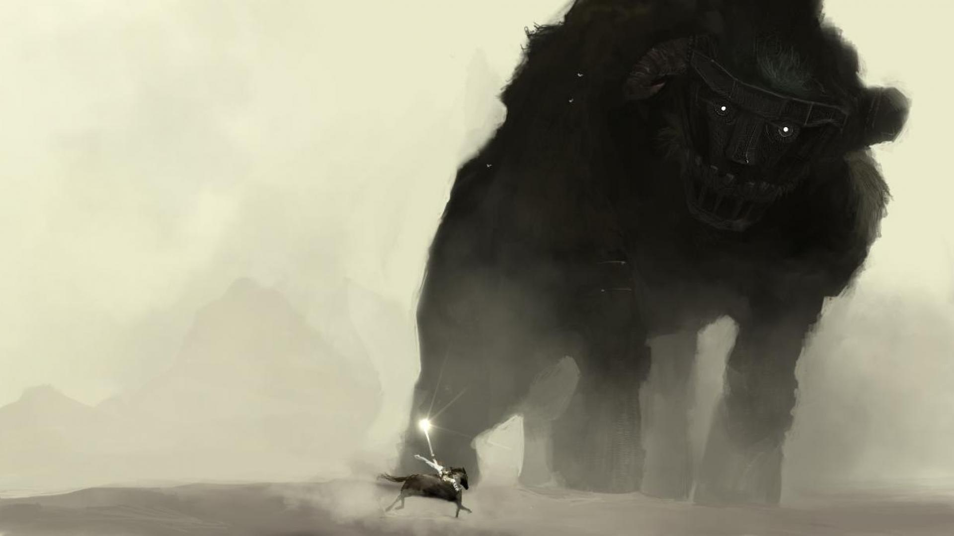 Free Download Shadow Of The Colossus Artwork Monster Hd Wallpaper