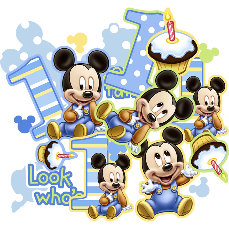 mickey mouse birthday wallpaper wallpapersafari. Black Bedroom Furniture Sets. Home Design Ideas