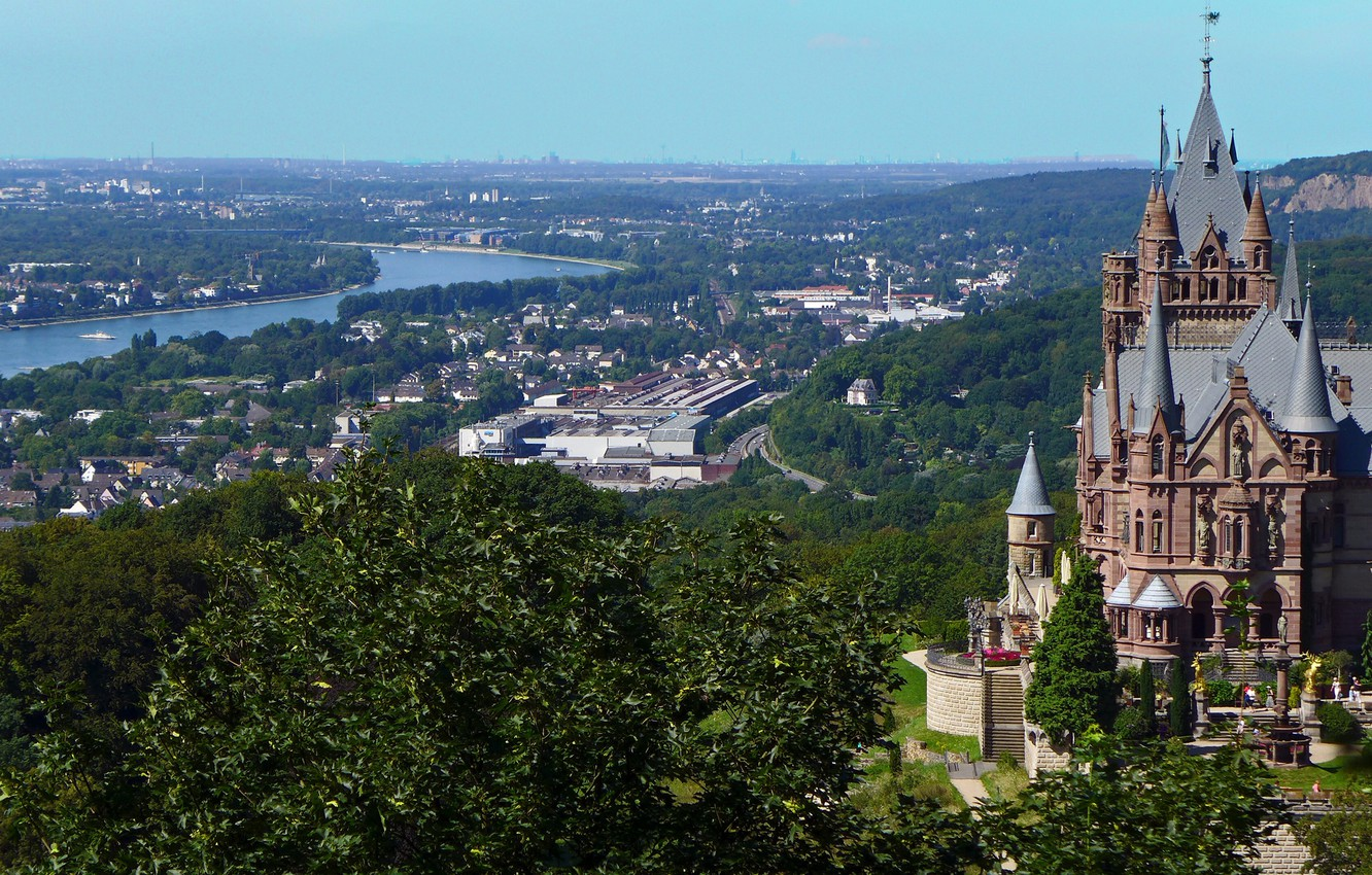 Wallpaper the city river castle Germany panorama Germany the 1332x850