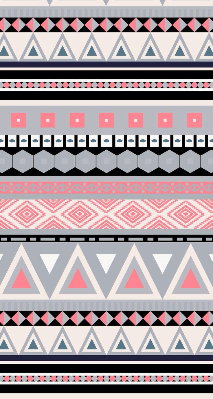 25 Best Ideas about Aztec Pattern Wallpaper 736x1377