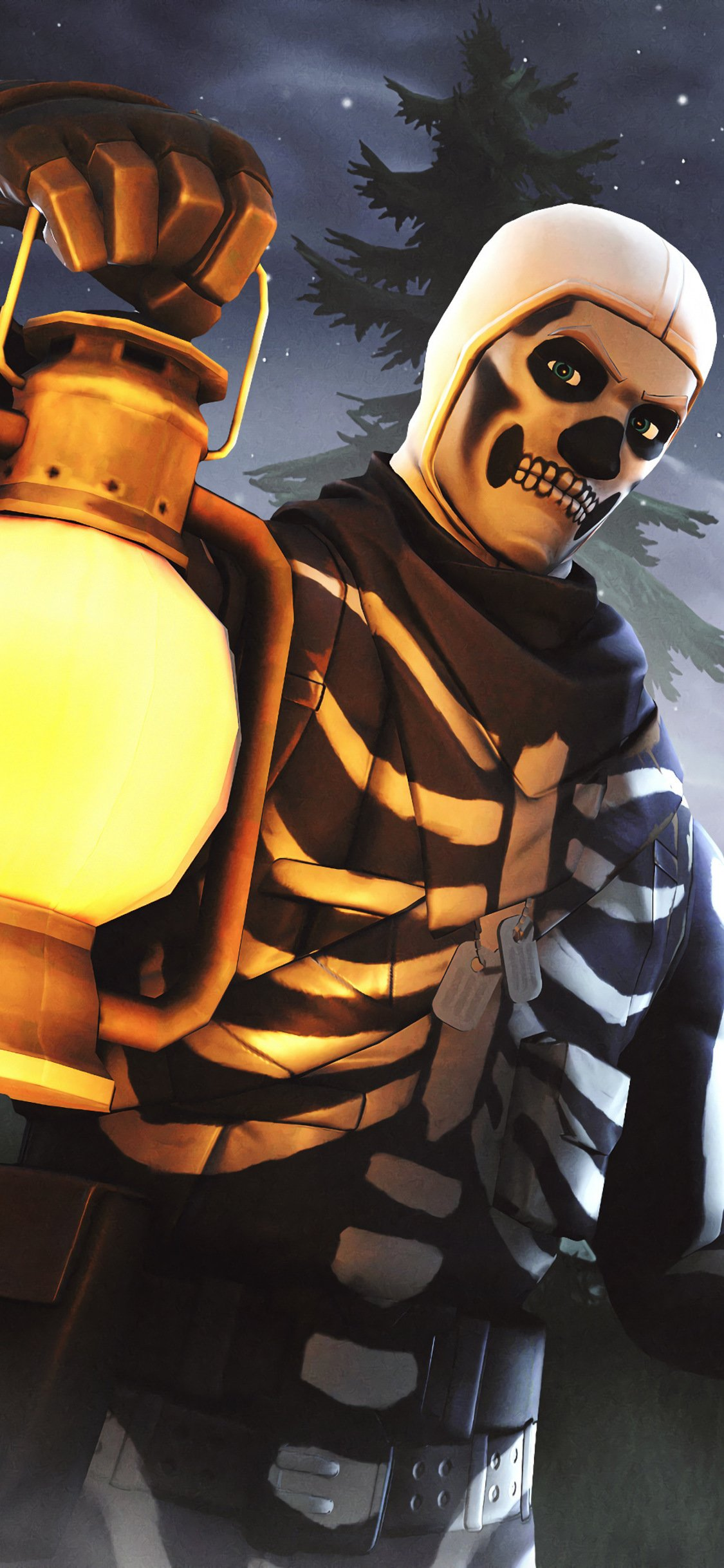 Skull Trooper Iphone XS Fortnite Background 4299 Wallpapers and 1125x2436