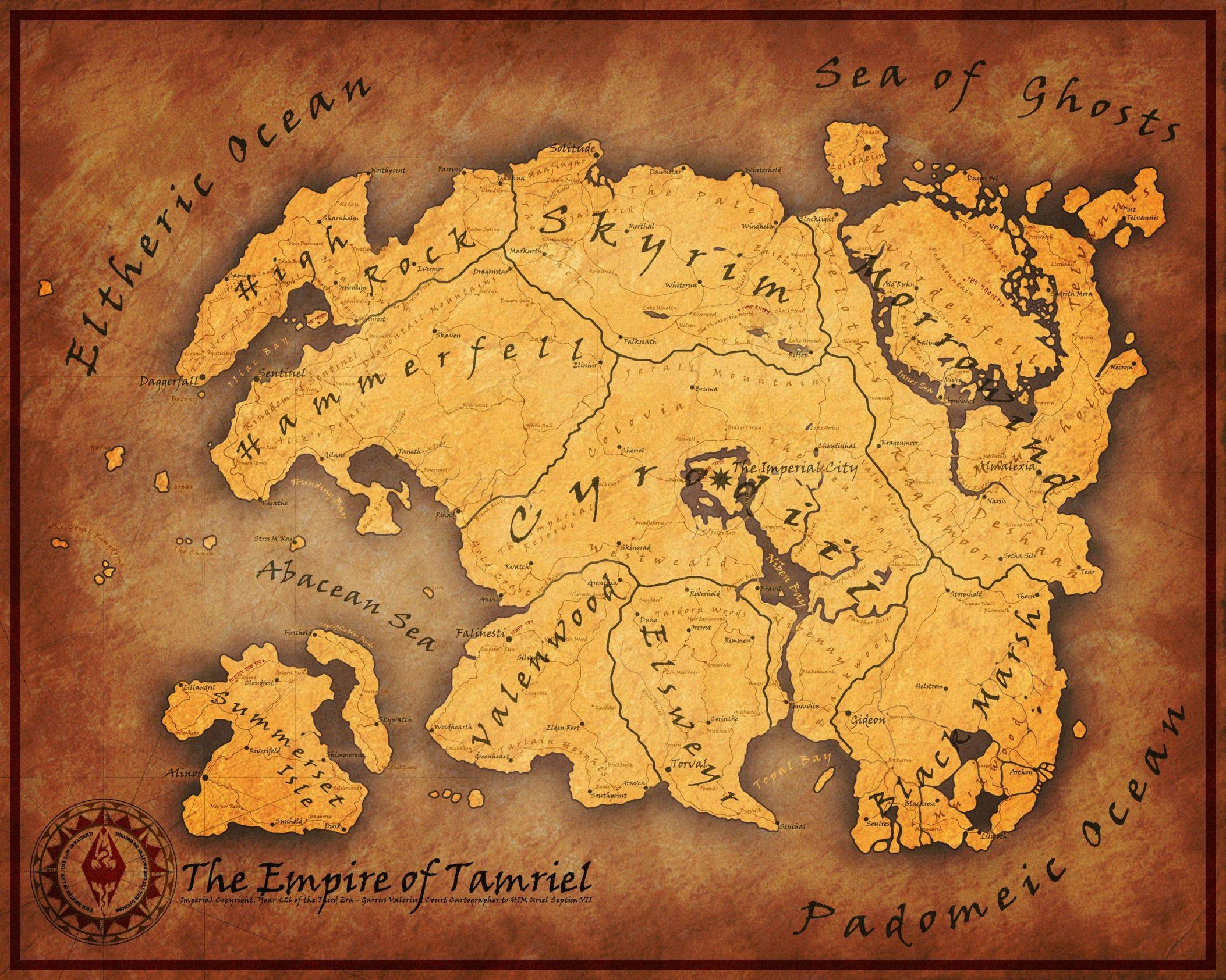 3rd Era Map of Tamriel teslore 2106x1685