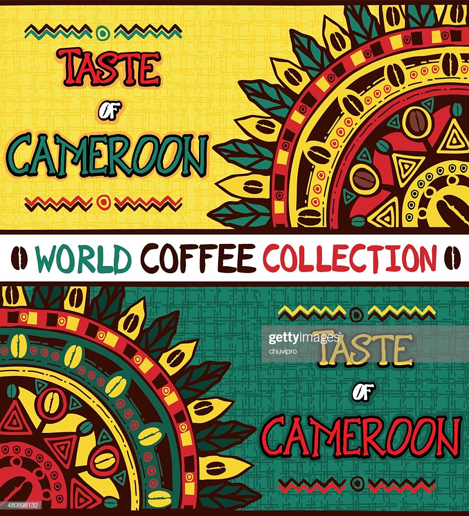 Coffee Background Taste Of Cameroon Hand Drawn Design Elements 931x1024