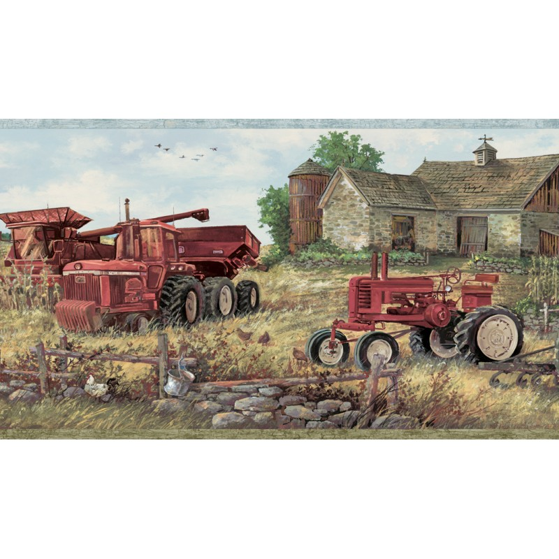 Wallpaper Border Country Farm Equipment Border 800x800