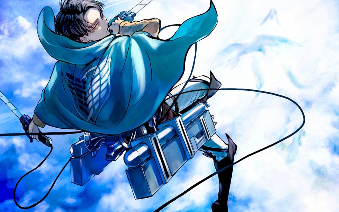 Levi Rivaille Attack on Titan Shingeki no Kyojin Anime Wallpaper 1440x900