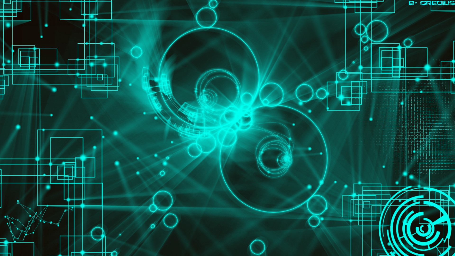 technology shapes digital art backgrounds squares Wallpapers 1920x1080