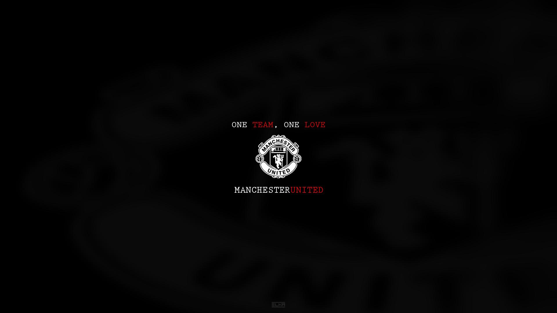 Manchester United Wallpaper Black Logo 1920x1080